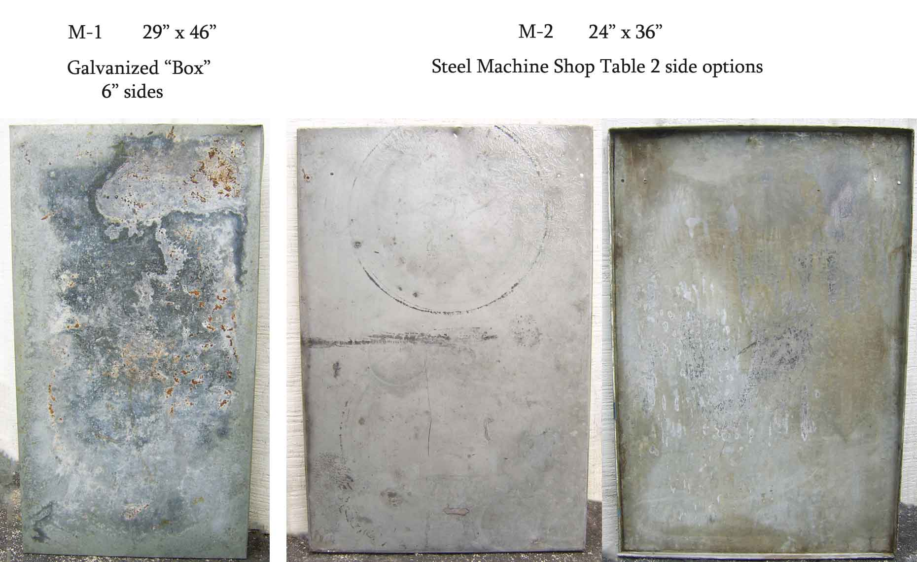Distressed Metal Tables, Zinc Table, Aged Galvanized Metal Surface, Photo Backgrounds